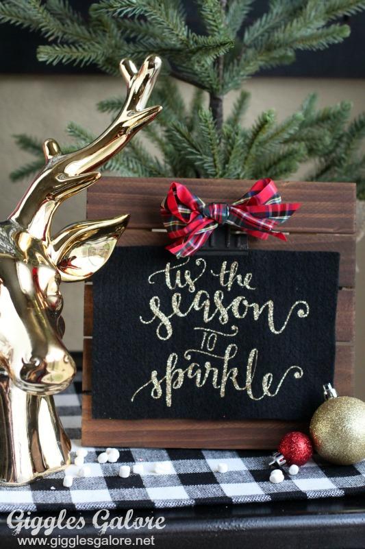 Tis the Season to Sparkle Glitter Sign