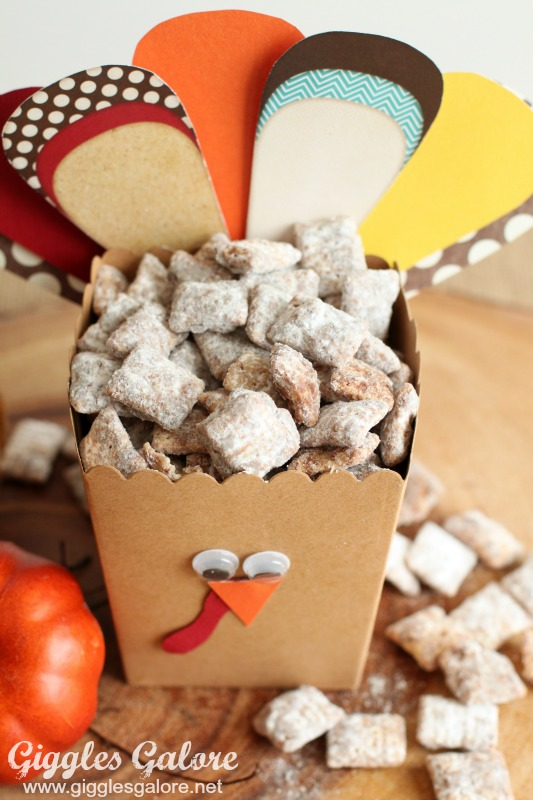 Turkey Treat Box with Chex Mix