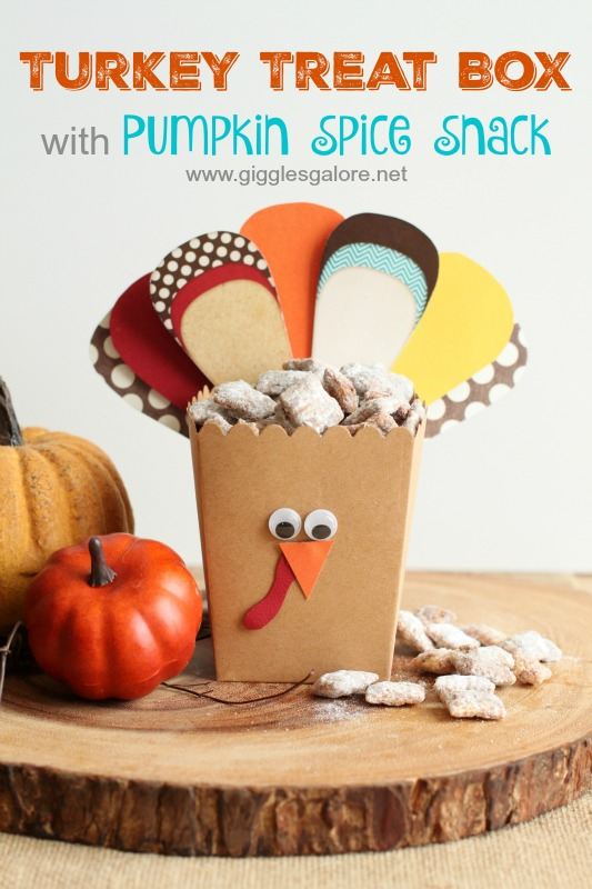 Turkey Treat Box with Pumpkin Spice Snack_Giggles Galore
