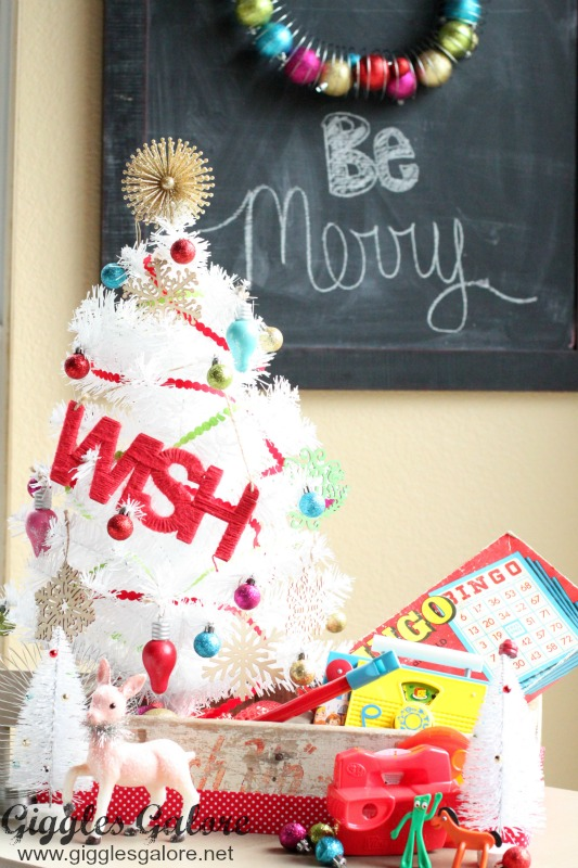 Decorating for Christmas with Retro Toys_White Christmas Tree