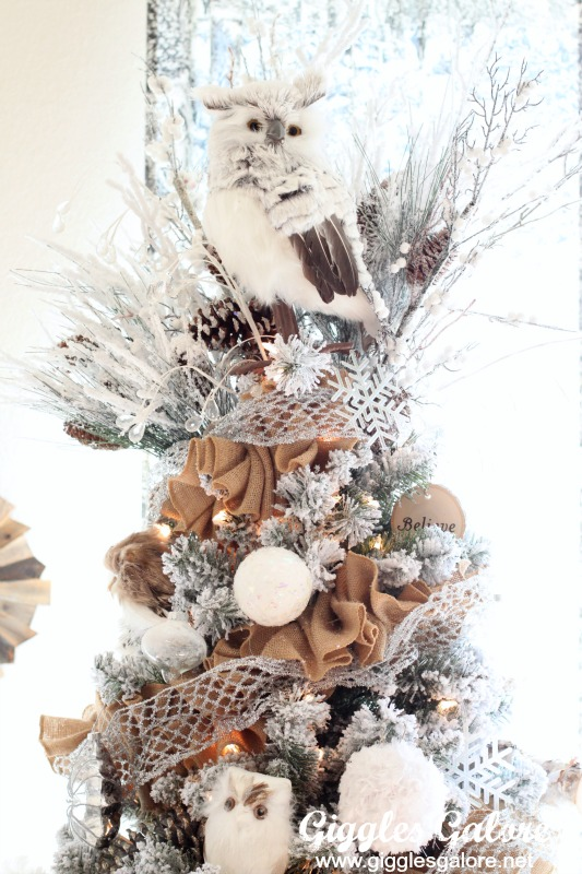 Pin This Winter Woodland Tree Top