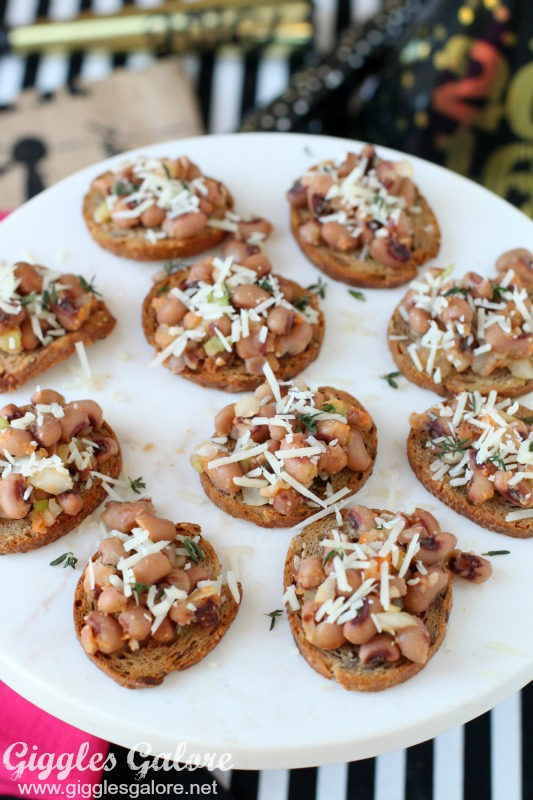 Black Eyed Pea Crostini