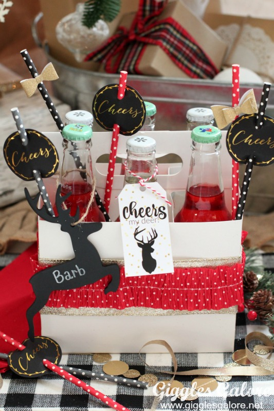 Cheers my Deer Christmas Gift Idea with Printable Tags
