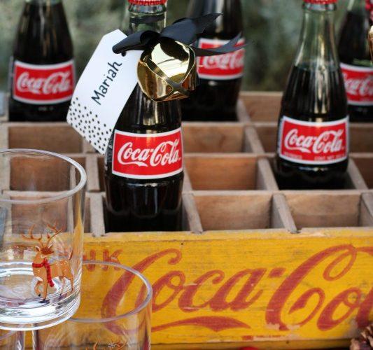 Coca cola bottles in coca cola crate