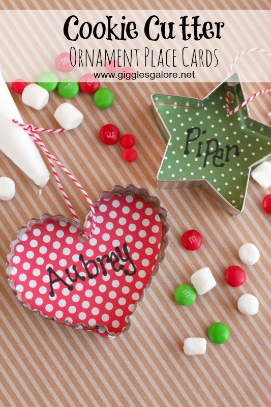 Cookie Cutter Ornament Place Cards_Giggles Galore
