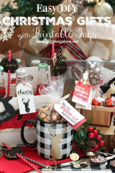 Easy diy christmas gifts with printable tags giggles galore