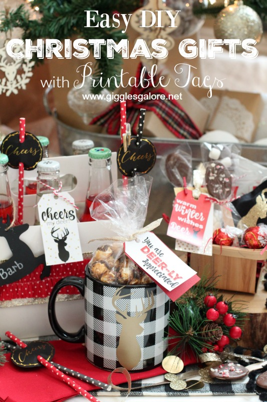 Easy DIY Christmas Gifts with Printable Tags_Giggles Galore