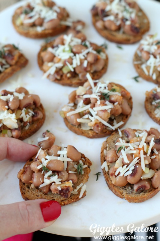 NYE Black Eyed Pea Crostini
