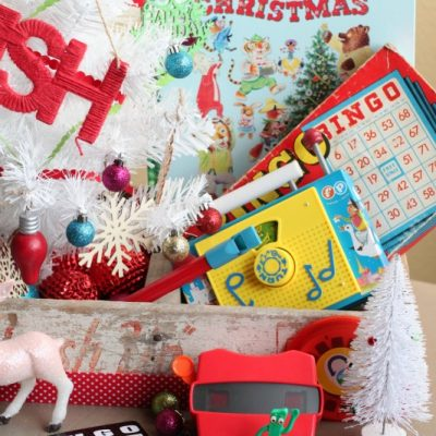 Christmas Decorating with Retro Toys