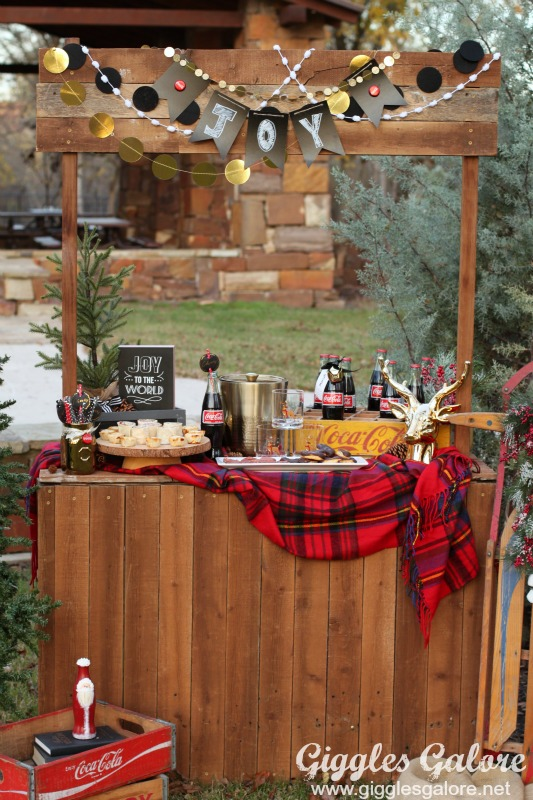 Rustic Winter Coca-Cola Party
