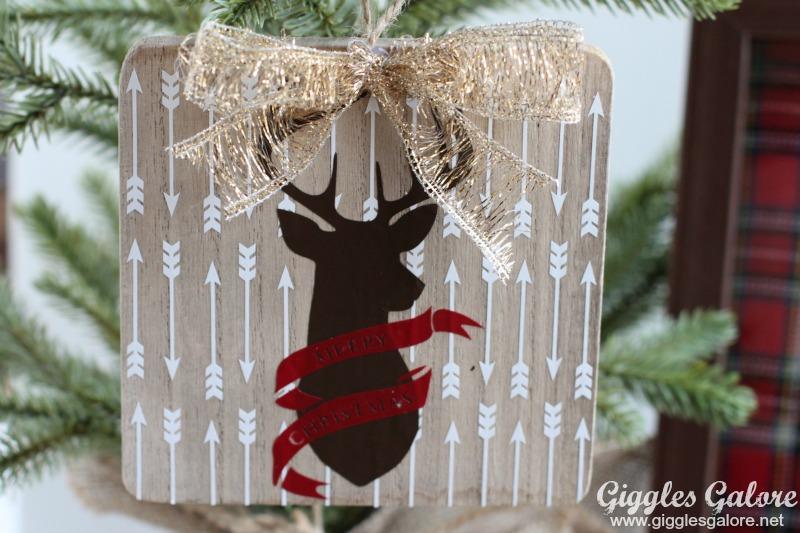 Rustic Wooden Deer Silhouette Ornament