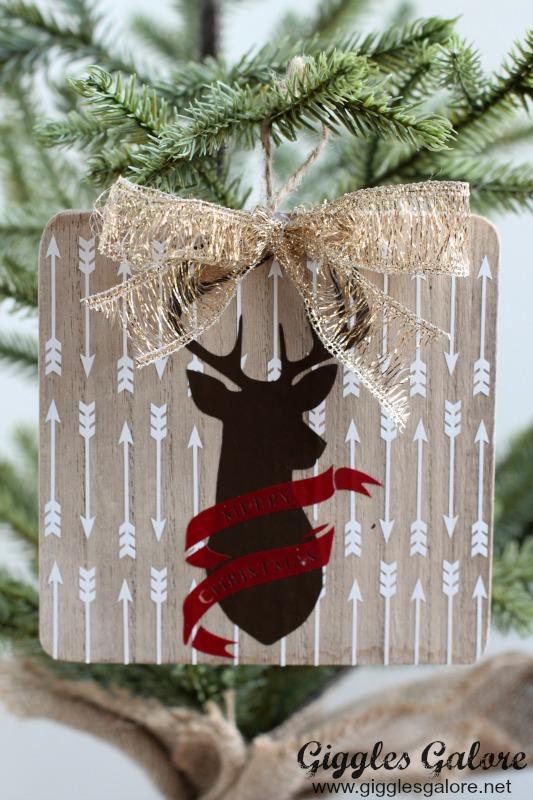 Wooden Deer Silhouette Ornament_GG