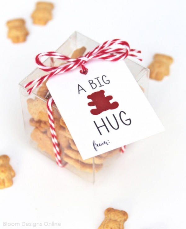A Big Bear Hug Valentine's Day Card Printable