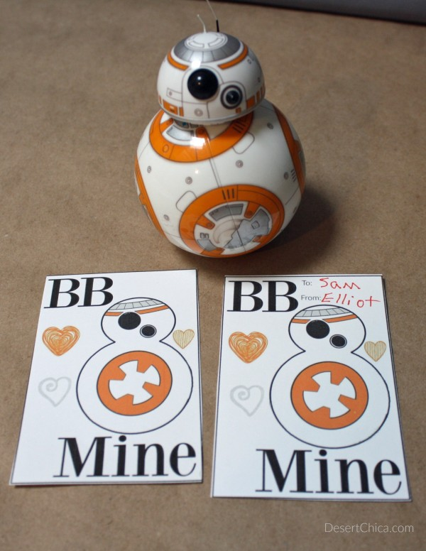 BB Mine Star Wars Valentine's Day Card Printable