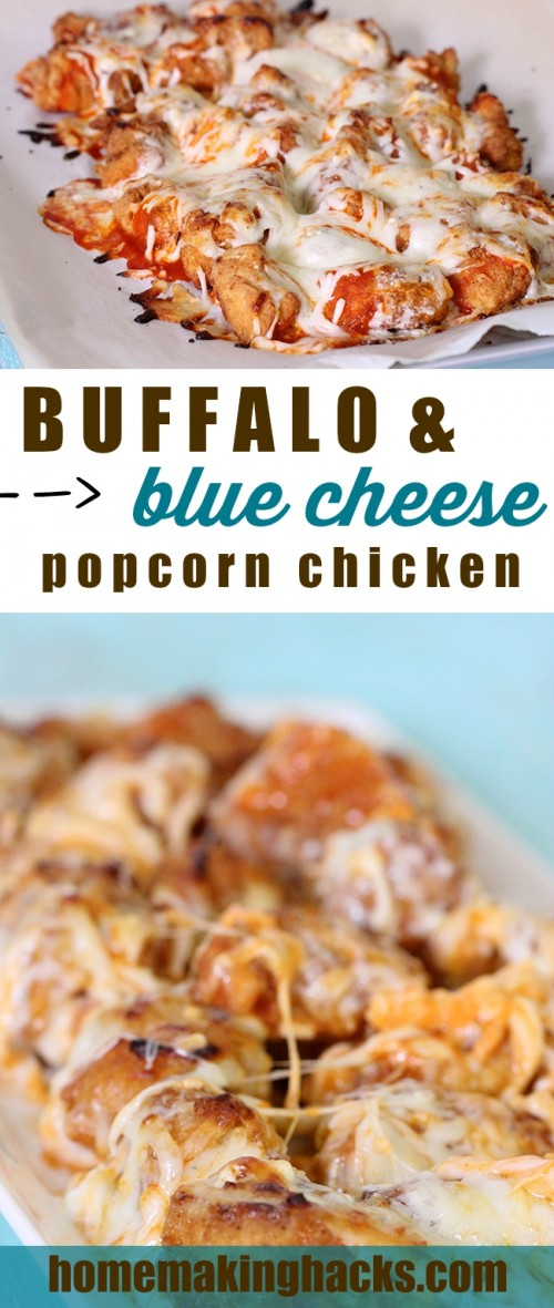 Buffalo Blue Cheese Popcorn Chicken