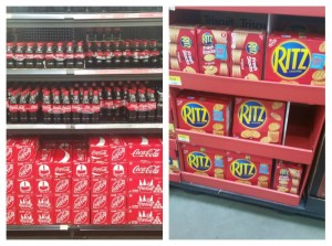 Coke and Ritz in store photo