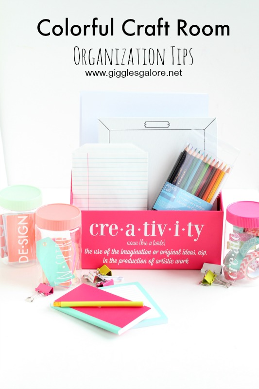 Colorful Craft Room Organization Tips_Giggles Galore