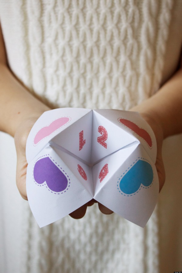DIY Fortune Tellers Valentine's Day Card Printable