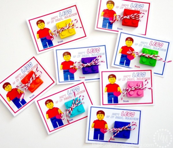 Don't LEGO of my Heart Valentine's Day Card Printable