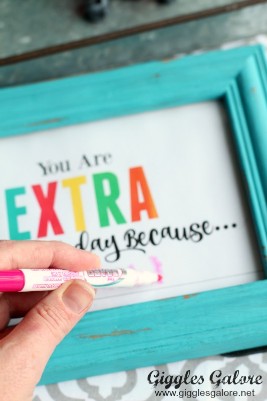Dry Erase Marker on Extra Special Frame