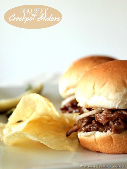 Football Game Day Foods BBQ-Beef-Crockpot-Sliders