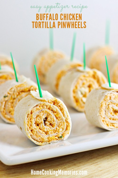 Football Game Day Foods Buffalo Chicken Pinwheels