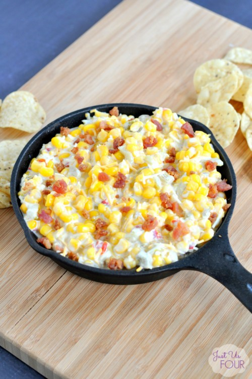 Football Game Day Foods Cheesy Bacon Corn Dip