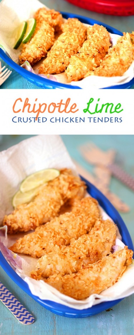 Football Game Day Foods Chipotle Lime Crusted Chicken Tenders