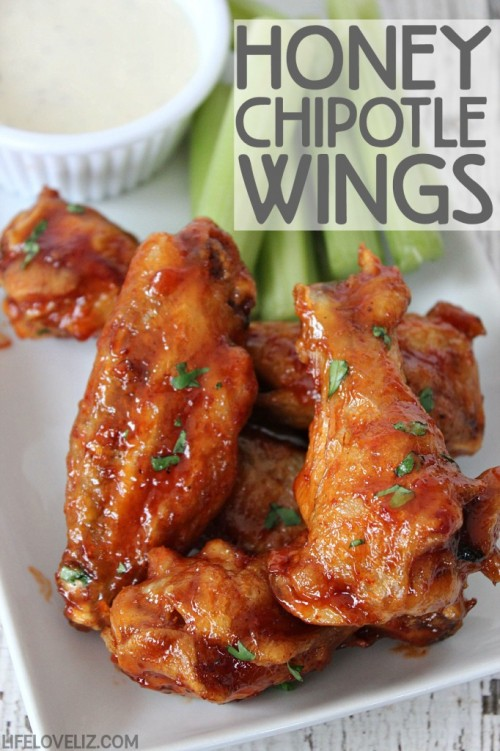 Football Game Day Foods Honey Chipotle Chicken Wings