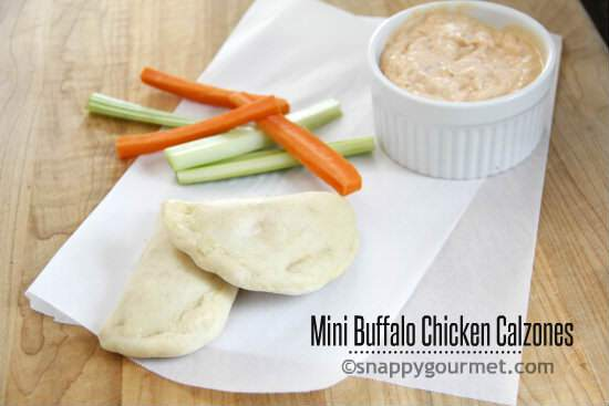 Football Game Day Foods Mini-Buffalo-Chicken-Calzones