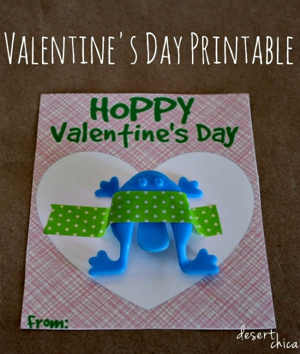 Hoppy Valentine's Day Card Printable