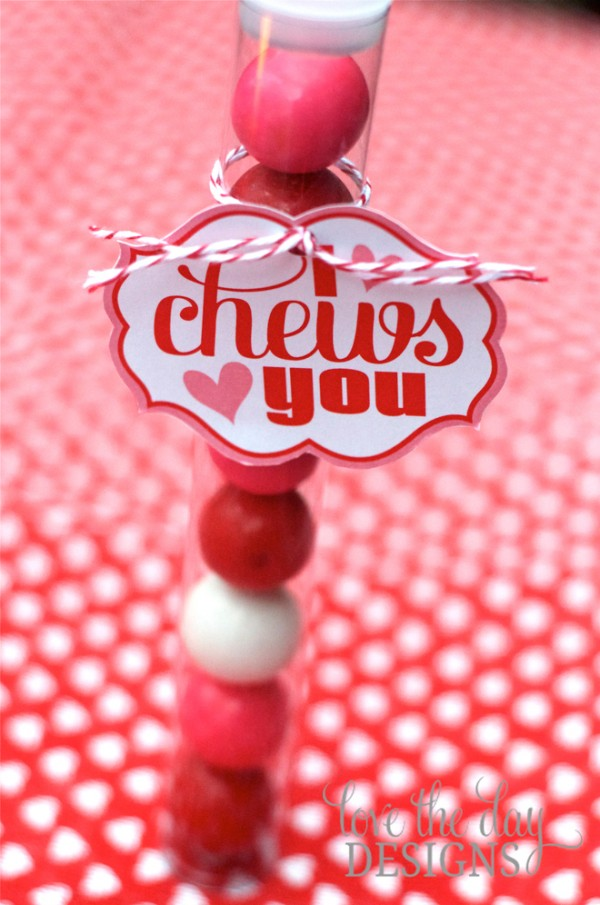 I Chews You Valentine's Day Card Printable