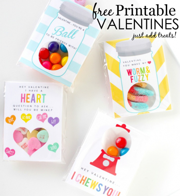 Just Add Treats Valentine's Day Card Printable