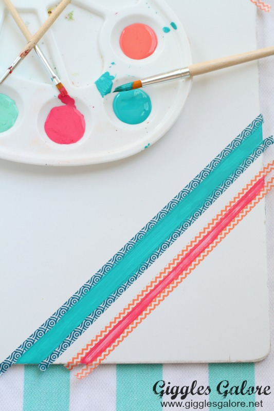 Painting Stripes with American Craft Paint