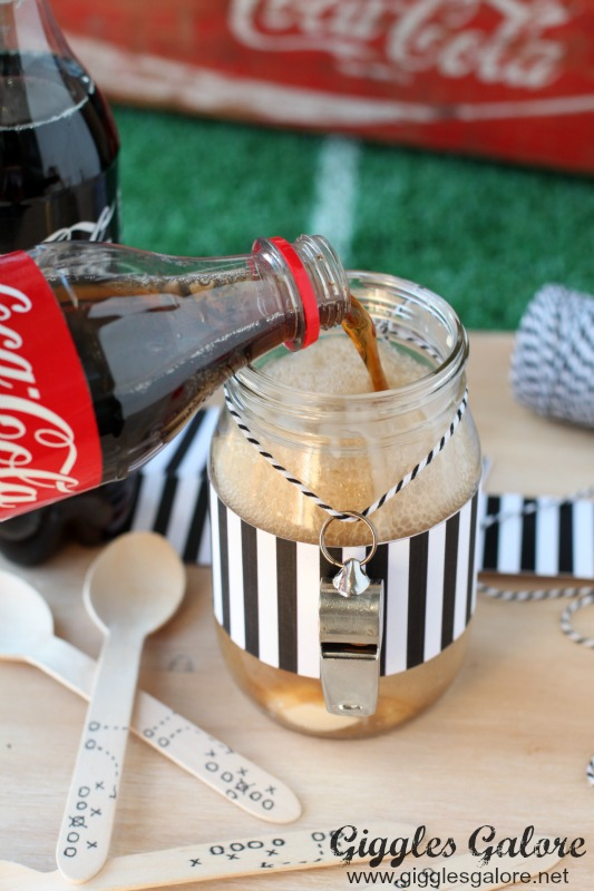 Pouring Coke in Floats