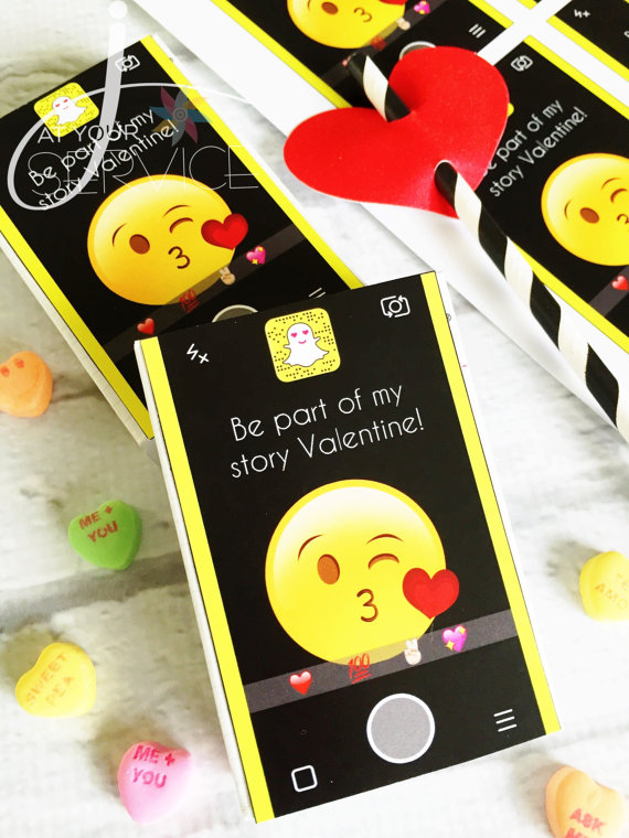 Snapchat Valentine's Day Card Printable