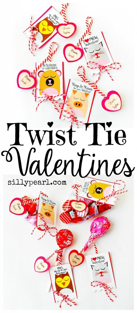 Twist Tie Valentine's Day Card Printables