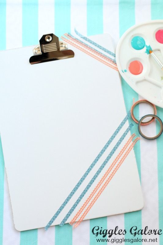 White Clipboard with Washi Tape