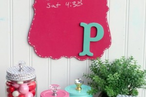 5 Minute Personalized Chalkboard