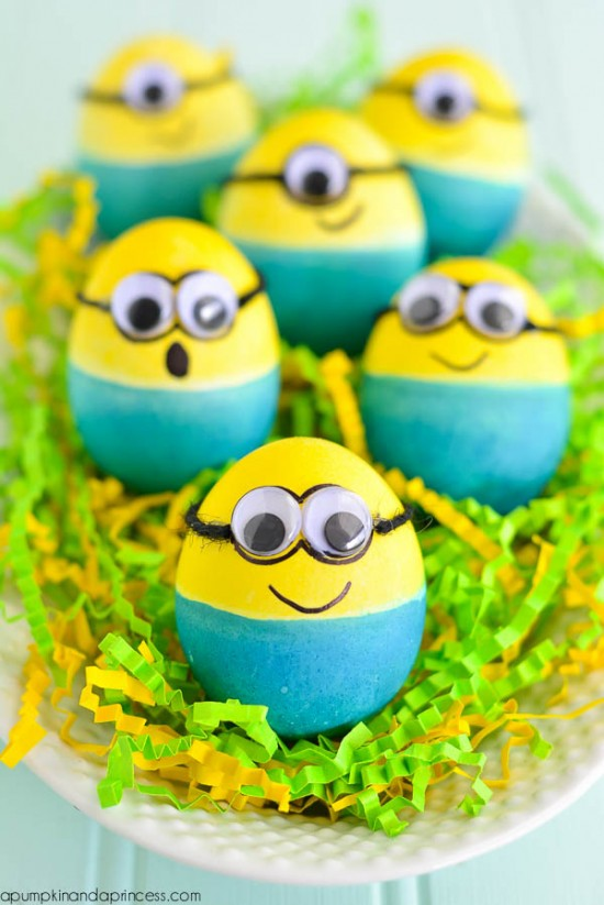 Pin This Dyed Minion Eggs Easter Egg Decorating Ideas