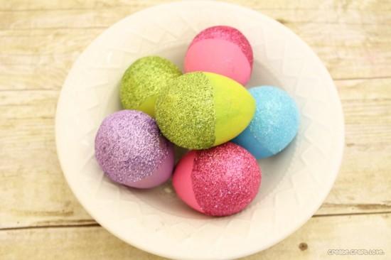 Glitter Dipped Eggs, Easter Egg Decorating Ideas