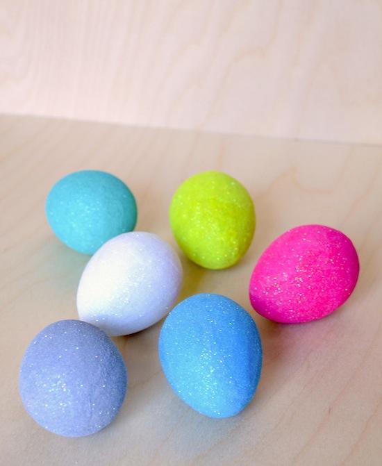 Mod Podge Glitter Eggs, Easter Egg Decorating Ideas