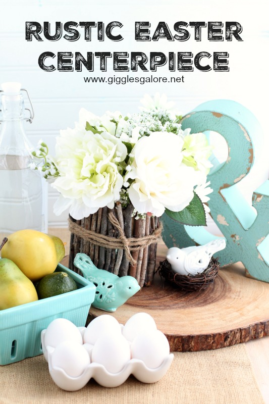 Rustic Easter Centerpiece_Giggles Galore