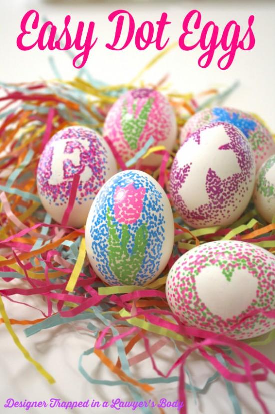 Sharpie Dot Eggs, Easter Egg Decorating Ideas