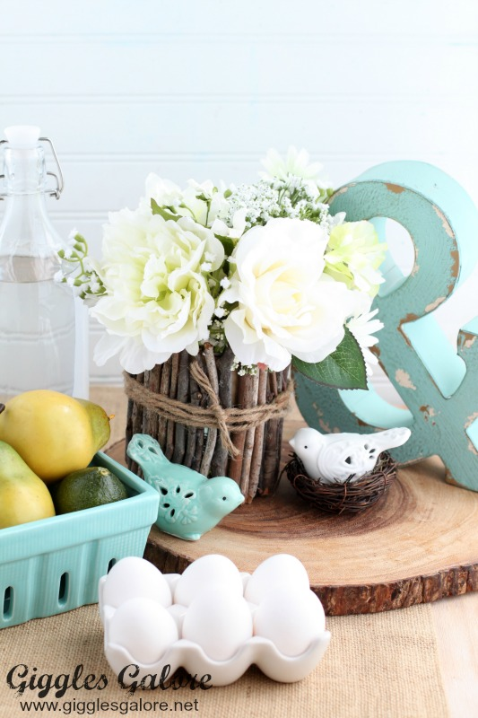 Simple Rustic Easter Centerpiece