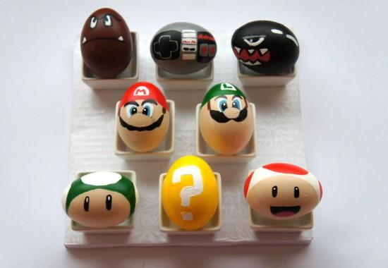Super Mario Bros Eggs, Easter Egg Decorating Ideas
