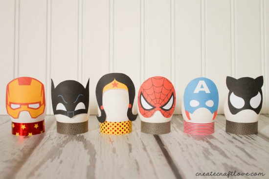 Superhero Easter Eggs, Easter Egg Decorating Ideas