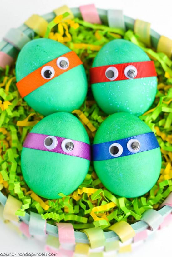 Teenage Mutant Ninja Turtle Eggs, Easter Egg Decorating Ideas