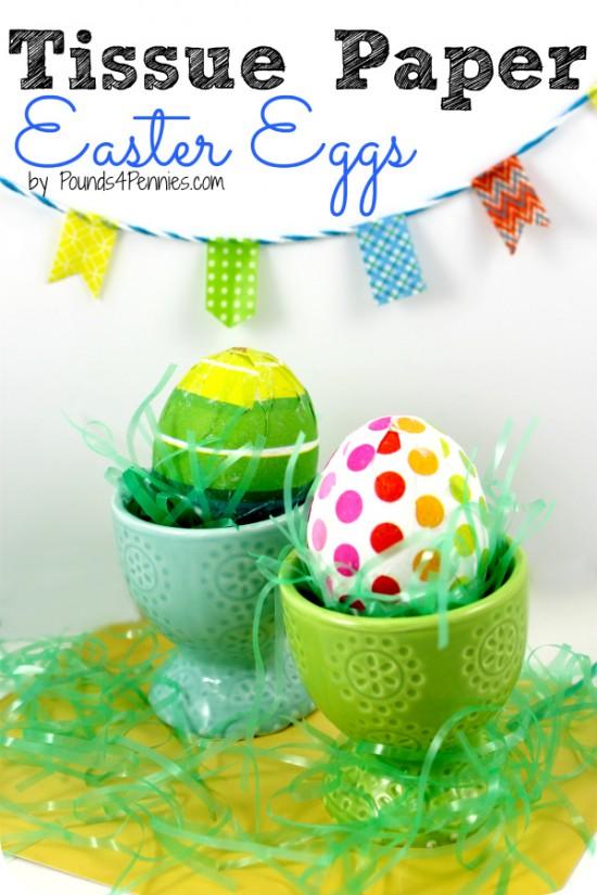 Tissue Paper Eggs, Easter Egg Decorating Ideas