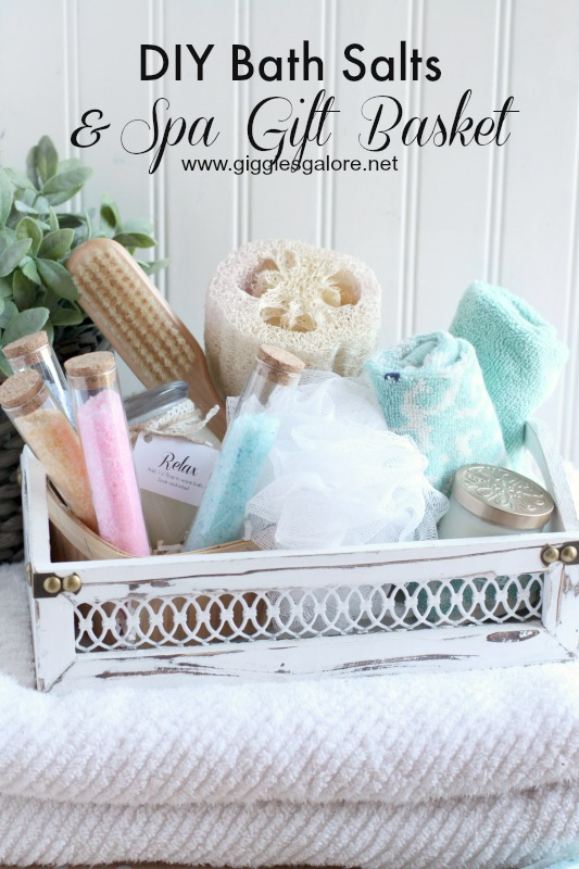 Diy bath salts spa gift basket giggles galore diy bath salts spa gift basketgiggles galore solutioingenieria Image collections